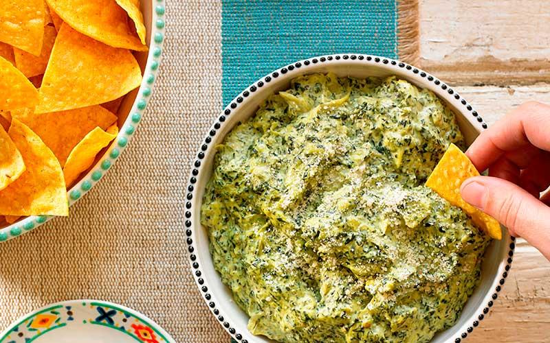 Receta dip de alcachofa y espinaca