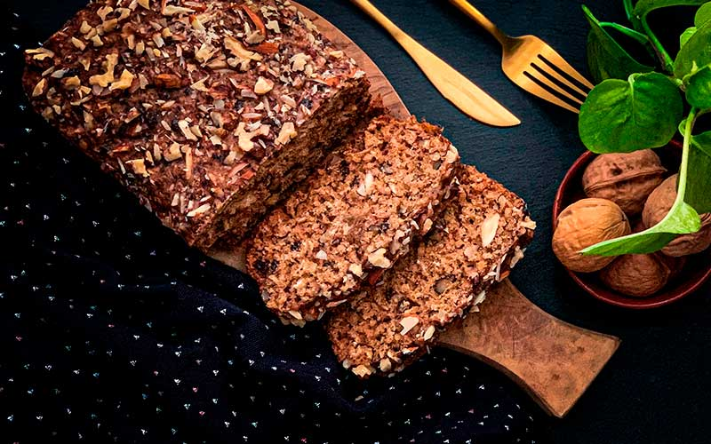 Pan rápido de avena y almendras