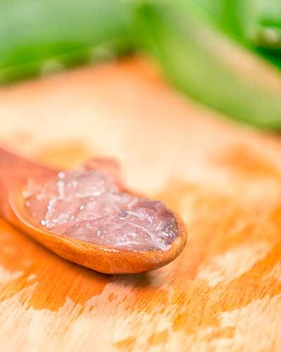 Cristales de Aloe vera para la frescura de la piel